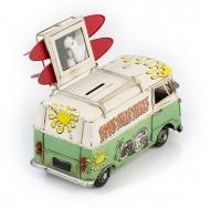 """Винтажная модель Volkswagen Transporter T2 Ретро """"Автобус"""" зелёный с белым, с фоторамкой и копилкой /12"""