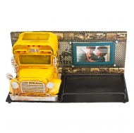 1410E-4782 Фоторамка с подставкой для ручек Школьный автобус