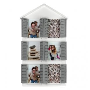 Фотоколлаж мультирамка BIN-1123010-White-Белый, домик с дверцами