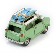 Модель Mini Cooper ретро автомобиль зелёный, с фоторамкой и подставкой для ручек