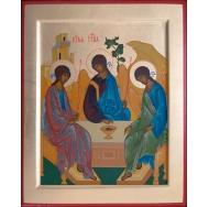 Икона Святая Троица 19х16