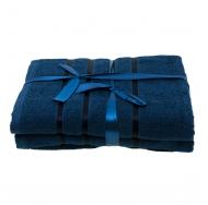 Набор из 4 полотенец Тёмно-синий