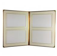 Фотоальбом на 40 фотографий 10х15 см, обложка из натуральной кожи, уголки на страницах.