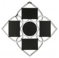 Фотоколлаж мультирамка BIN-1122552-White-Белый, 4 фоторамки с круглым зеркалом