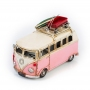 """Винтажная модель Volkswagen Transporter T2 Ретро """"Автобус"""" белый с розовым, с фоторамкой /12"""
