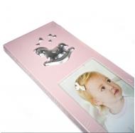 Фотоальбом и фоторамка в наборе, розовый