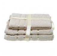 Набор из 4 полотенец Бежевый