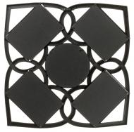 Фотоколлаж мультирамка BIN-1122552-Black-Чёрный, 4 фоторамки с круглым зеркалом