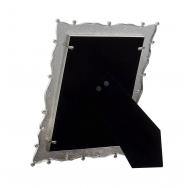 Белая металлическая фоторамка 15х20 с стразами