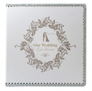 Фотоальбом Магнитный 30 листов в кейсе (иск. кожа) 9880/30VK Наша свадьба