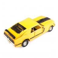 Винтажная модель Ретро Автомобиль гоночный жёлтый