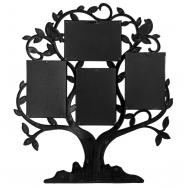 Мультирамка BIN-1124348-Black-чёрный, 4 фоторамки, Родословное дерево, Family