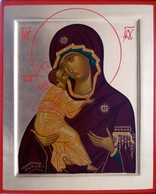 Икона Богородица Владимирская 19х16