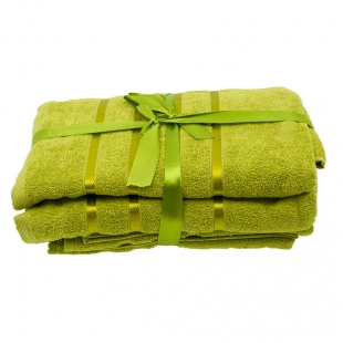 Набор из 4 полотенец Оливковый