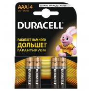Батарея  DURACELL BASIC LR03 4BL /40/120