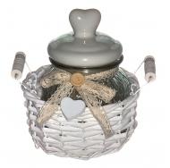 Винтажная баночка с фарфоровой крышкой в прованском стиле