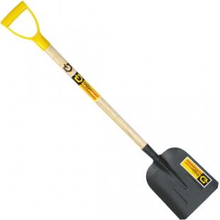 лопата совковая песочная с деревянным черенком и ручкой