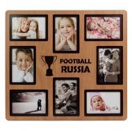 Фоторамка PE-083 Бук на 8 фото 10x15см Россия футбол 2018