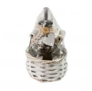 LB16-17/1 Ёмкость для специй(соус, уксус, масло) в корзине, cruet set