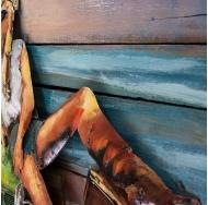 Винтажная интерьерная картина Девушка и море
