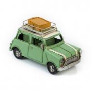 Модель Mini Cooper ретро автомобиль зелёный, с фоторамкой и подставкой для ручек /12