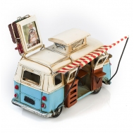 """Винтажная модель Volkswagen Transporter T2 Ретро """"Автобус"""" белый с голубым, с фоторамкой /12"""