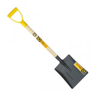 Лопата совковая песочная автомобильная с деревянным черенком и ручкой