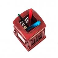 1404B-1262 Фоторамка с подставкой для ручек Телефонная будка /24