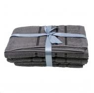 Набор из 4 полотенец Серый