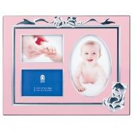 Фоторамка PATA T4704 P (23x18) (3 фото в 1) Baby Pink /12/48