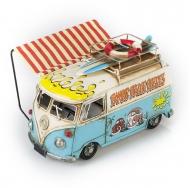 """Винтажная модель Volkswagen Transporter T2  Ретро """"Автобус"""" белый с голубым, с фоторамкой и копилкой /12"""