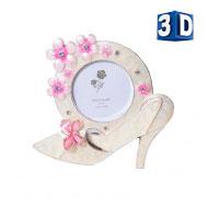 PF3530 5x5 минирамка-сувенир туфелька, металлическая со стразами /12/36