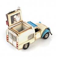 Citroën 2CV / Ситроен 2СВ - декоративная винтаж-модель БЕЛЫЙ С СИНИМ, С ФОТОРАМКОЙ И ПОДСТАВКОЙ ДЛЯ РУЧЕК /12