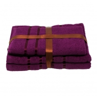 Набор из 4 полотенец Фиолетовый