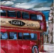 Винтажная интерьерная картина Лондонский автобус