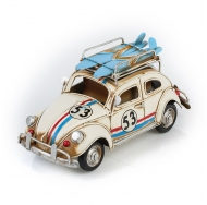 """Фольксваген Жук - Volkswagen Käfer - декоративная винтаж-модель с фоторамкой 1404E-4337 Модель Ретро """"Автомобиль"""" белый, с фоторамкой и подставкой для ручек /6"""
