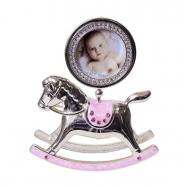 PF10342P PINK 2.5x2.5 лошадка-качалка розовая, металлическая со стразами /6/18