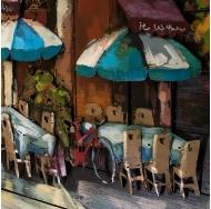 Винтажная интерьерная картина Летнее кафе