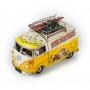 """Модель Ретро Volkswagen Transporter T2 """"Автобус"""" жёлтый с белым, с фоторамкой и подставкой для ручек /12"""