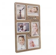 Мультирамка PE-063 Дуб, 6 фоторамок для детских фотографий