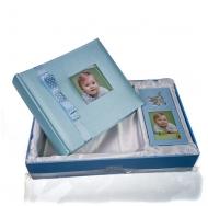 Фотоальбом и фоторамка в наборе, синий