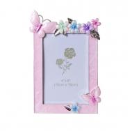 PF3513P 10x15 бабочки и цветы, розовая, металлическая со стразами /6/24