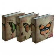 Фотоальбом на 200 фото С-46200L (бумажные стр. с МЕМО) Бабочки