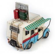 """Фольксваген Жук - Volkswagen Käfer - декоративная винтаж-модель с фоторамкой 1404E-4347 Модель Ретро """"Автомобиль"""" белый с голубым, фургон с фоторамкой /6"""