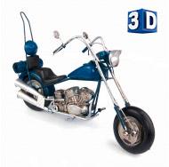 1510A-7838 Модель Ретро Мотоцикл синий