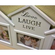 "BH-1501-White-Белый, 3 фоторамки ""Love, Laugh, Live"" /12"