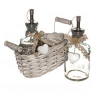 Набор LB16-17/2 для специй из 2-х предметов в корзине, cruet set