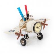 1404B-1303 Фоторамка с подставкой для ручек Часы-Самолёт /12